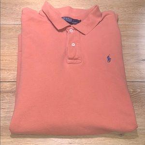 Orange men's polo